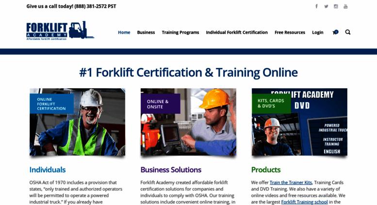 Access Forkliftacademy 1 Osha Forklift Certification