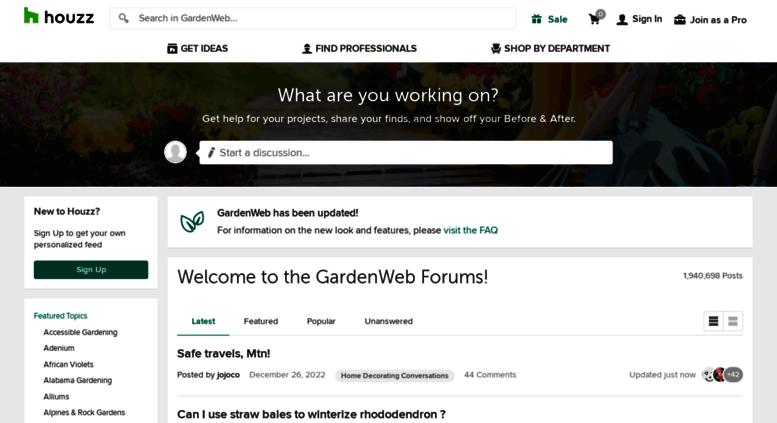 Exceptionnel Forums2.gardenweb.com Screenshot