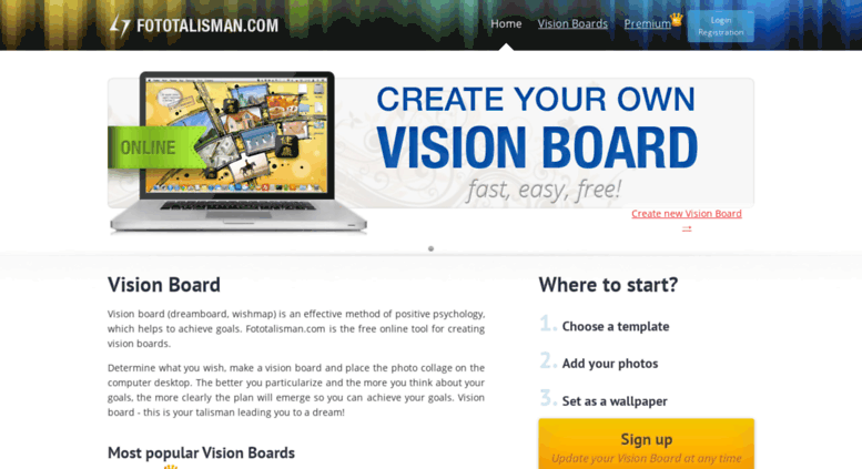 Access fototalisman vision board online free templates fototalisman screenshot maxwellsz