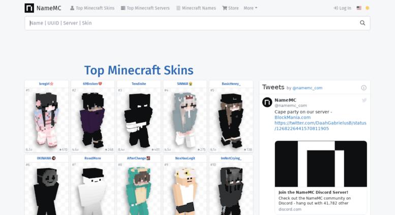 Access Frnamemccom NameMC Minecraft Names Skins - Minecraft namemc skins