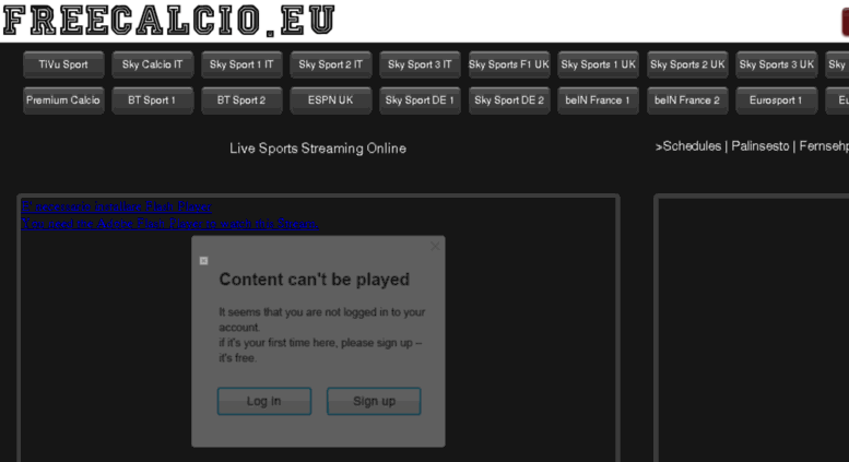 live sports streaming online calcio streaming
