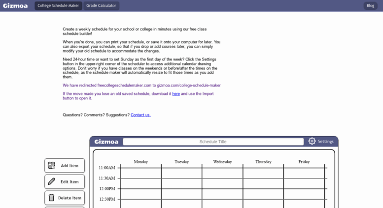 freecollegeschedulemakercom screenshot