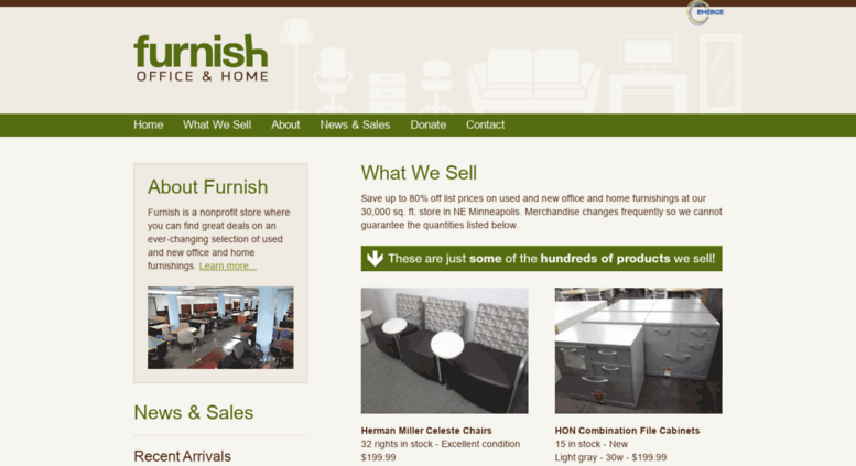 Furnishofficeandhome.org Screenshot