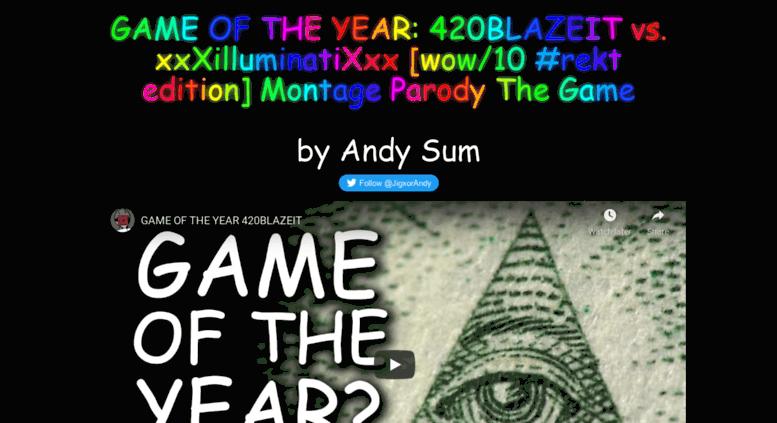 access gameoftheyear420blazeit com game of the year 420blazeit by