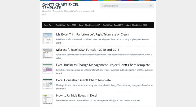 Access Gantt Chart Excel Gantt Chart Excel Template 2007 2010