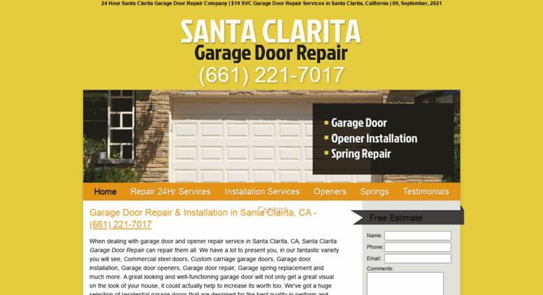 Garage Doors Santa Clarita.com Screenshot
