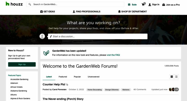 Gardenweb.com Screenshot