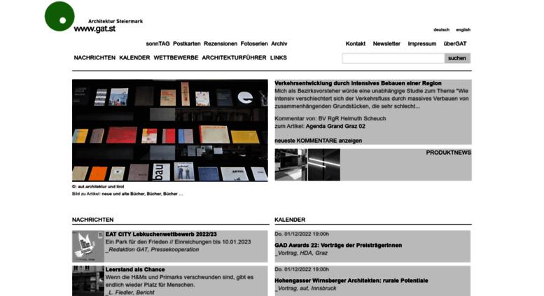 Access gat.st. www.gat.st | Architektur Steiermark
