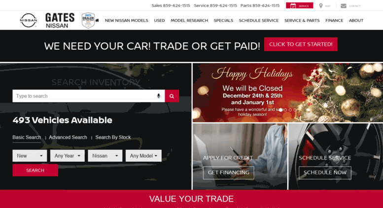Gatesnissan.net Screenshot