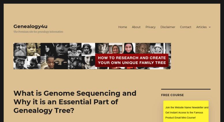 access geneology4u com geneology4u create your own unique family