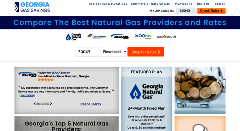Gas Companies In Georgia >> Access Georgiagassavings Com Compare Georgia Natural Gas Rates And
