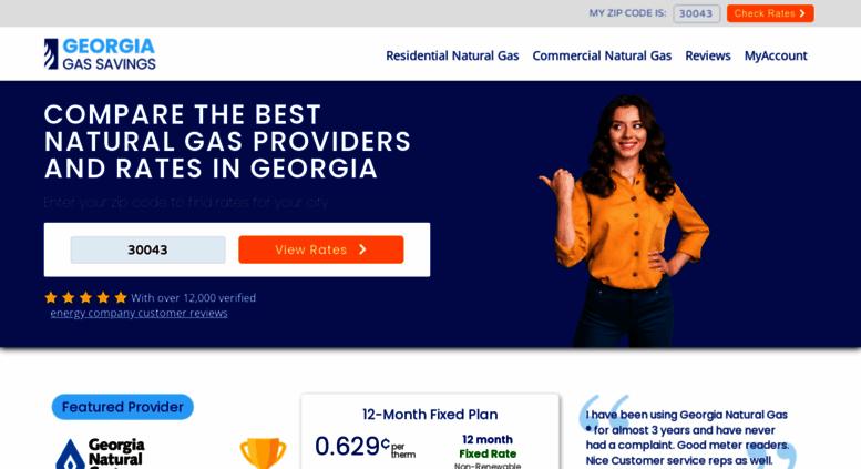 Gas Companies In Ga >> Access Georgiagassavings Com Compare Georgia Natural Gas Rates And