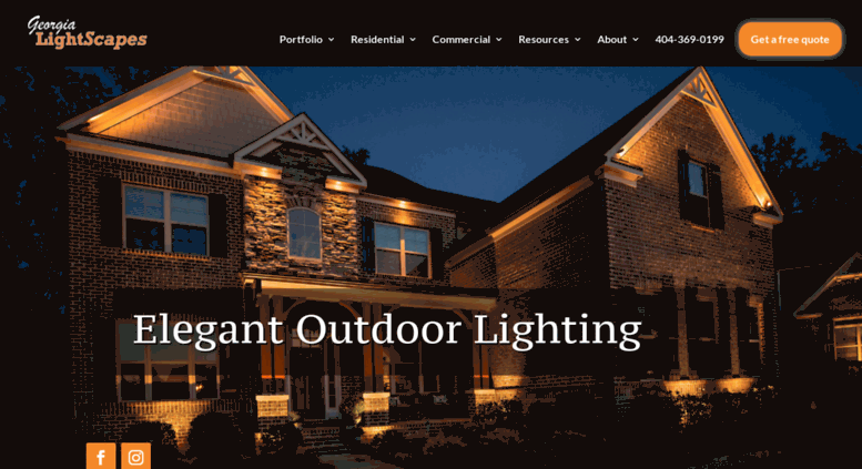 Access georgialightscapes com georgia lightscapes atlantas electrical services and outdoor led landscape lighting provider
