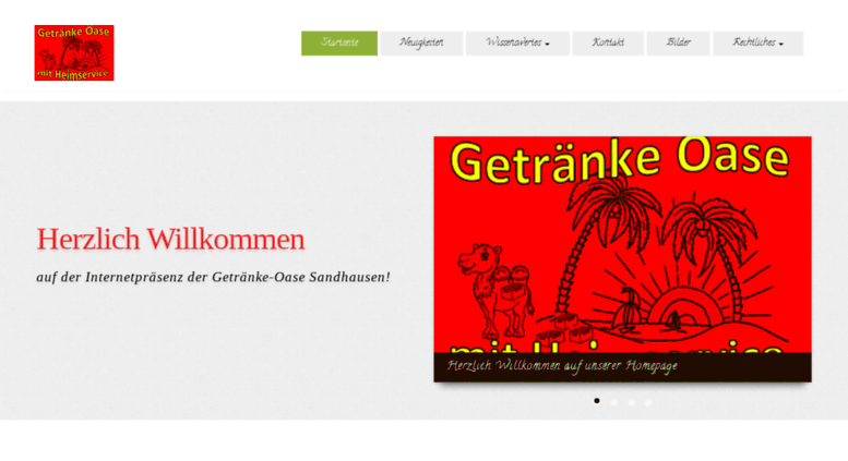 Access getraenkeoase.com. Getränke-Oase Sandhausen | Heimservice ...