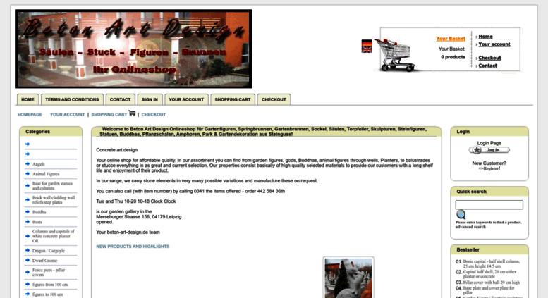 Access gipsfigurenshop.de. Beton Art Design Onlineshop für ...