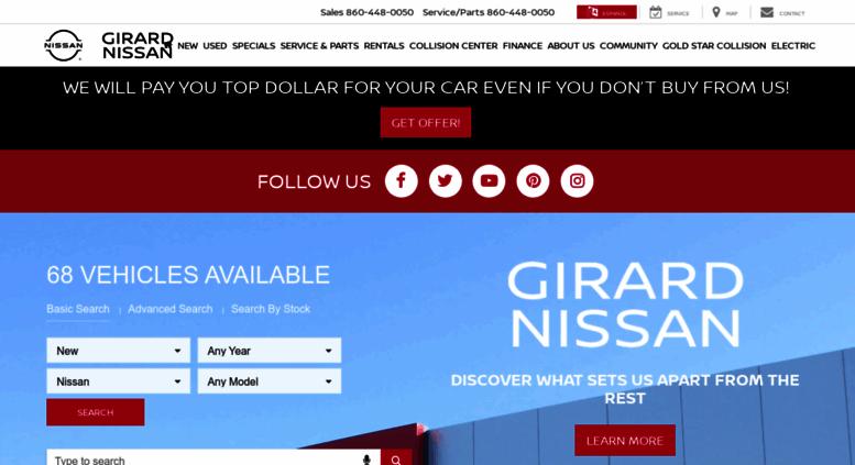 Girardnissan.com Screenshot