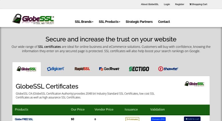 Access Globessl Globessl Ssl Certificates Ev Ssl Wildcard