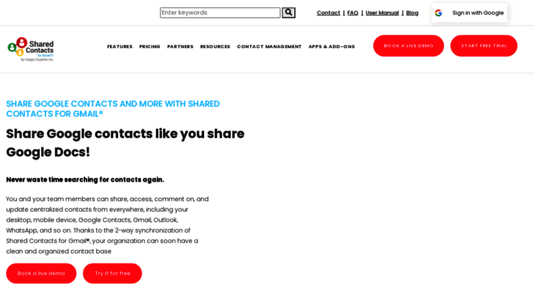 share gmail contacts