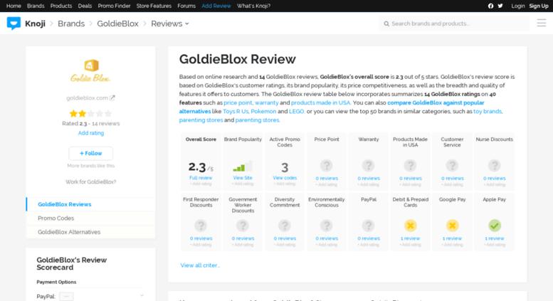 Access goldieblox knoji com  25% Off Goldie Blox Coupon Code | 2017
