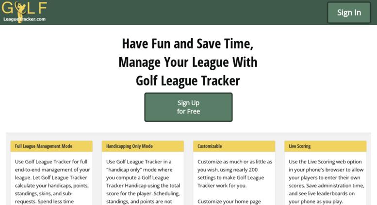 online league tracker