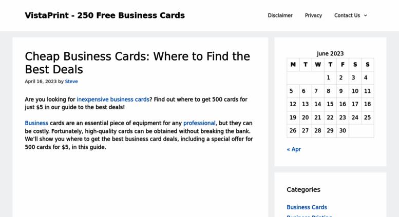 Access gotfreebusinesscards vistaprint 250 free business gotfreebusinesscards screenshot reheart Gallery