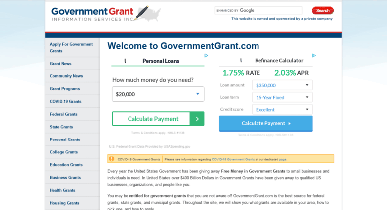 1,000,000,000,000 (that's trillion)worth of grants (that's free money