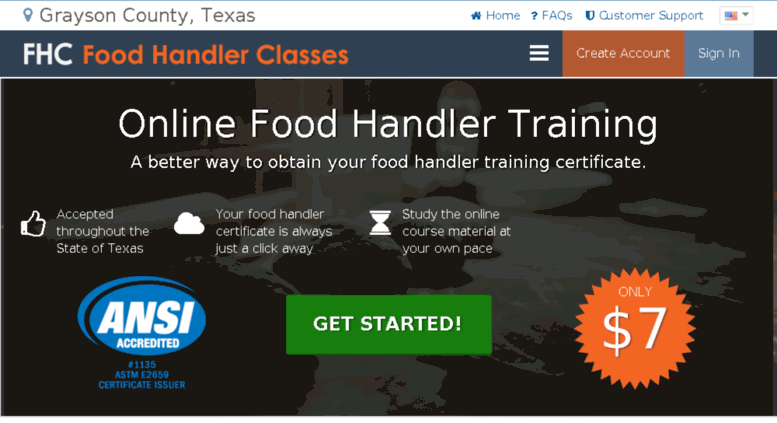 Access Graysoncountyhealth Food Handler Classes Grayson
