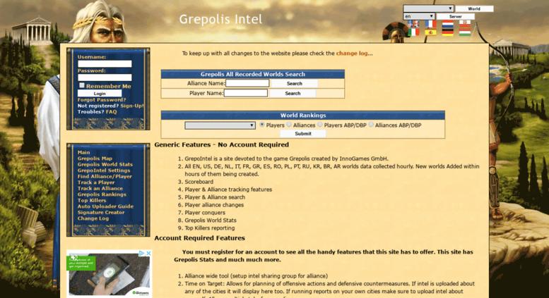 Access Grepointelcom Grepolis Intel Grepolis Stats Grepolis - Grepolis us maps