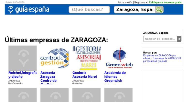Access guia-zaragoza.guiaespana.com.es. Guía de ZARAGOZA. Guía de ...