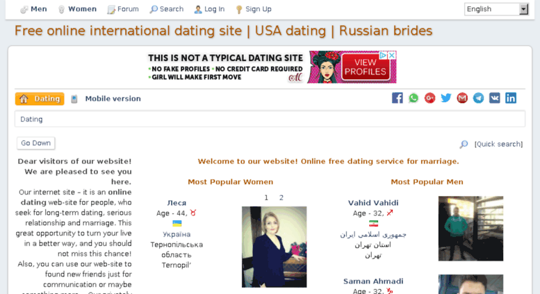 Free online dating sites for marriage