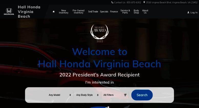Hallhonda.com Screenshot