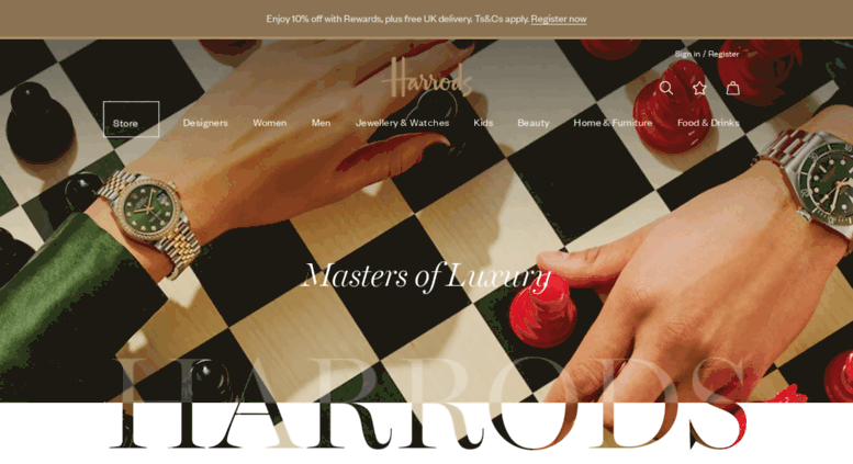 Harrods, designer clothing, luxury gifts and fashion accessories | Harrods .com