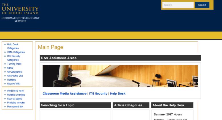 Hdwiki.uri.edu Screenshot