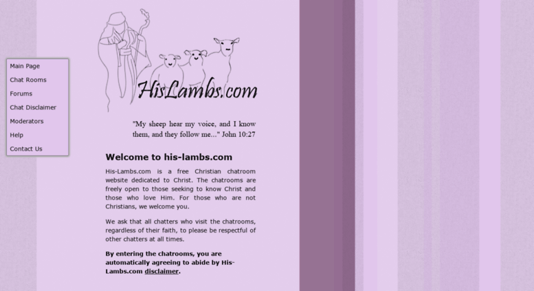 Access his-lambs.com. His-Lambs.com, open Christian chat rooms for ...