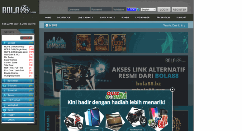 Access hj.bola88.com. Bandar Agen Taruhan Judi Bola SBOBET ...