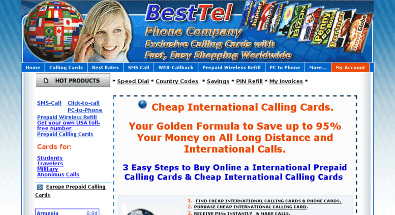 hmelpushlinecom screenshot - Best International Calling Cards