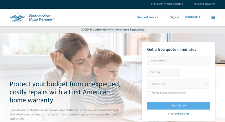 What is a First American home warranty?