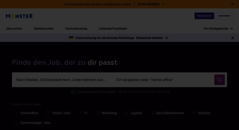 Access home.monster.de. Finden Sie Ihren Job: Durchsuchen Sie jetzt ...
