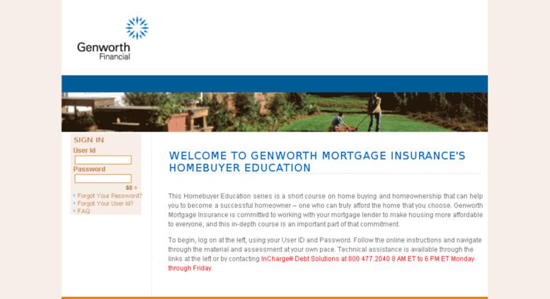 Access homebuyereducation.genworth.com. Genworth Financial's ...