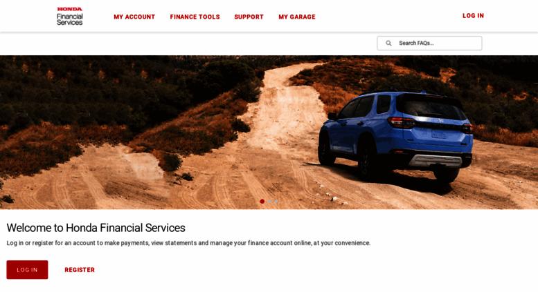 Hondafinancialservices.com Screenshot