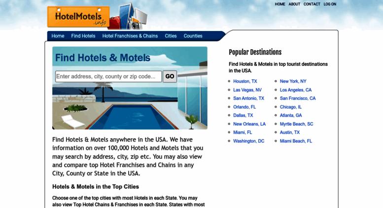 Hotelmotels Info Screenshot