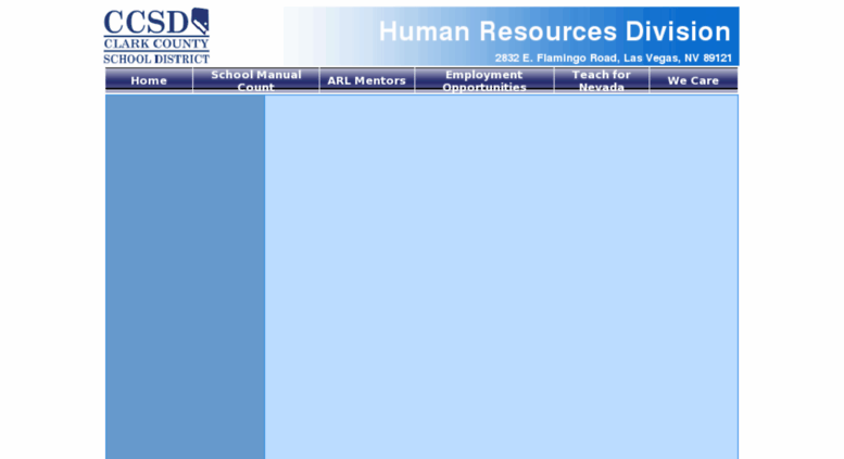 Access Hrdccsdnet Human Resources Division Clark County School