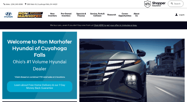 High Quality Hyundaiofakron.com Screenshot