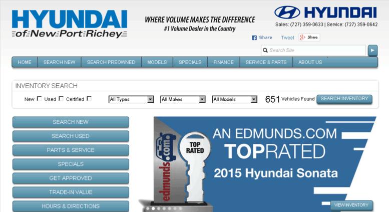 Hyundaiofnewportrichey.com Screenshot