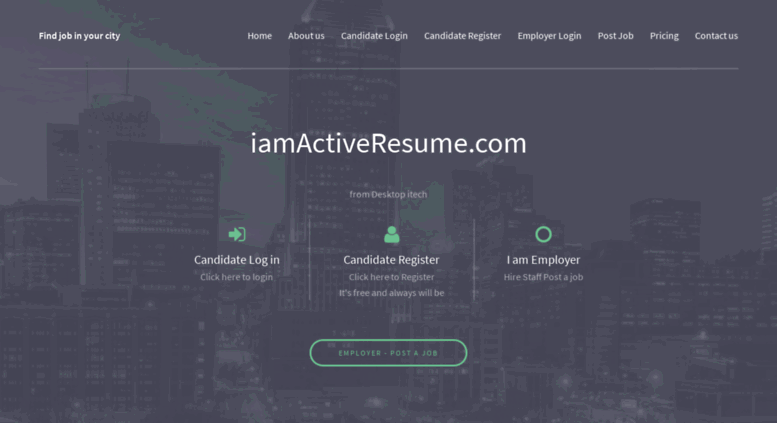 resume sign up