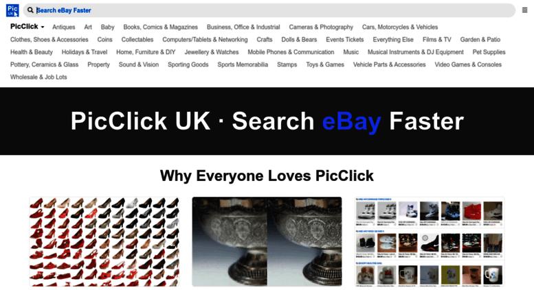 Access ie.picclick.com. PicClick IE • Search eBay Faster