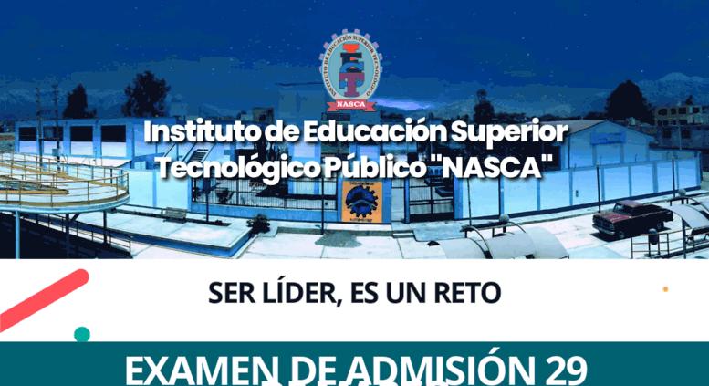 Access iestpnasca.edu.pe. IESTP Nasca