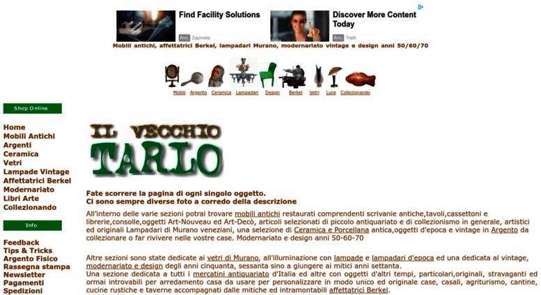 Access ilvecchiotarlo.it. Vendita online mobili antichi ...
