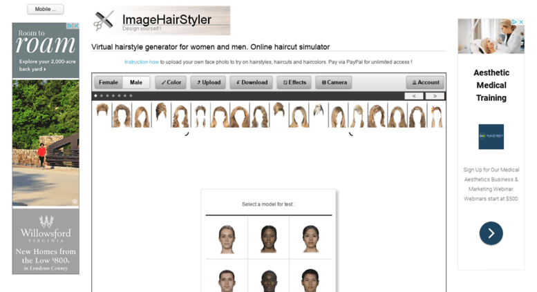 Access Imagehairstylerspot Virtual Hairstyle Generator