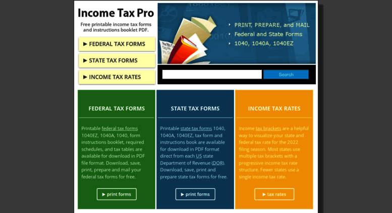 Access Incometaxpro Income Tax Forms 2017 Printable Tax Form